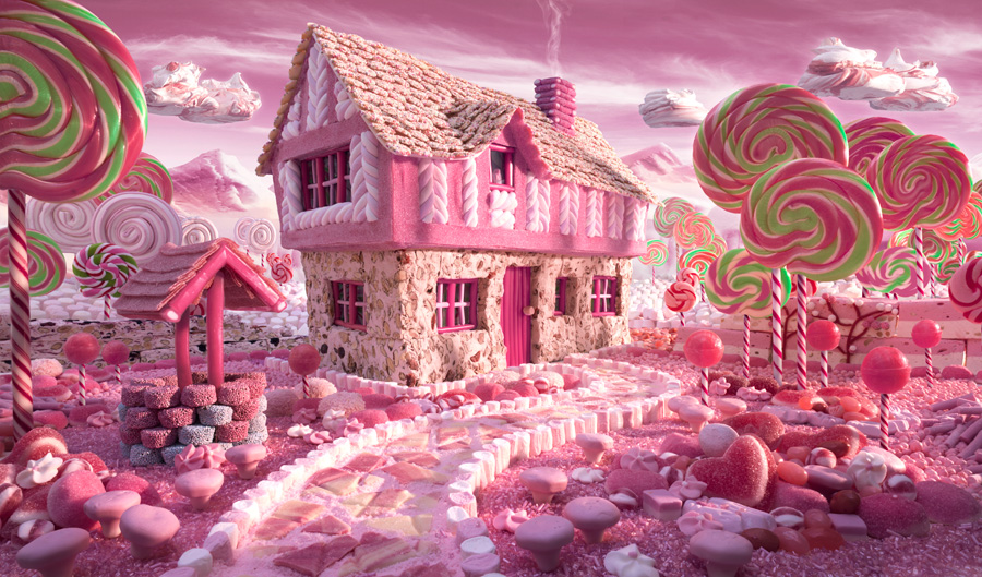 Candy Cottage fot. Carl Warner