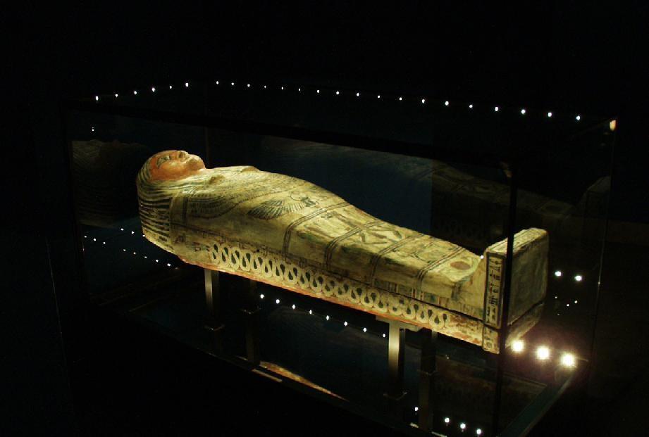 Sarkofag z el-Hibeh fot. Agnieszka Susuł
