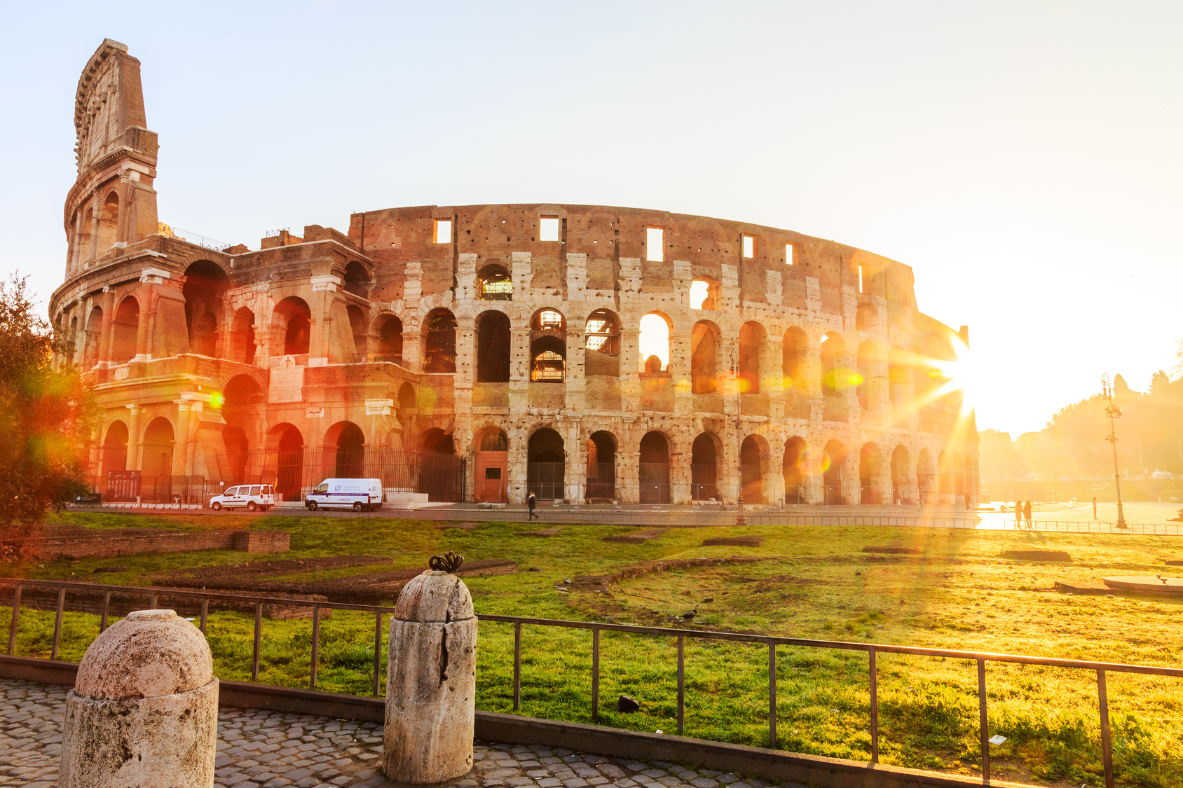 Colosseum, Rome, morning sun, Italy, Europe.