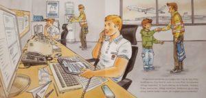 """Piotr i chłopiec w bazie firmy handlingowej (""""Mam przyjaciela, który obsługuje samoloty"""")"""
