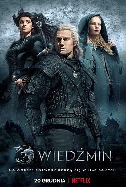 Wiedźmin polski plakat filmowy Geralt, Yennefer i Ciri