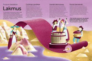 Historia kolorów - biedniejsi mogli farbować tkaniny na fioletowo dzięki lakmusowi, tańszej wersji purpury tyryjskiej