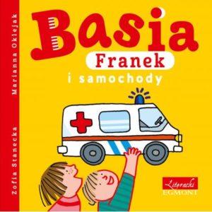 Basia Franek i samochody okładka Franek trzyma karetkę pogotowia Basia stoi obok