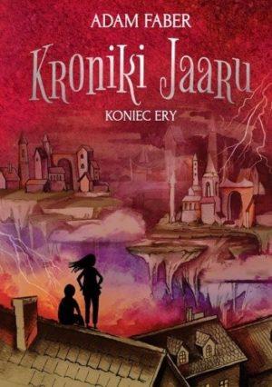 Okładka książki Koniec ery Kroniki Jaaru sylwetki Diany i wilkołaka obserwują odrodzony dwór Czarnego Pana