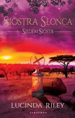 Siostra Słońca  okładka afrykański step w tle i astrolabium na pierwszym planie