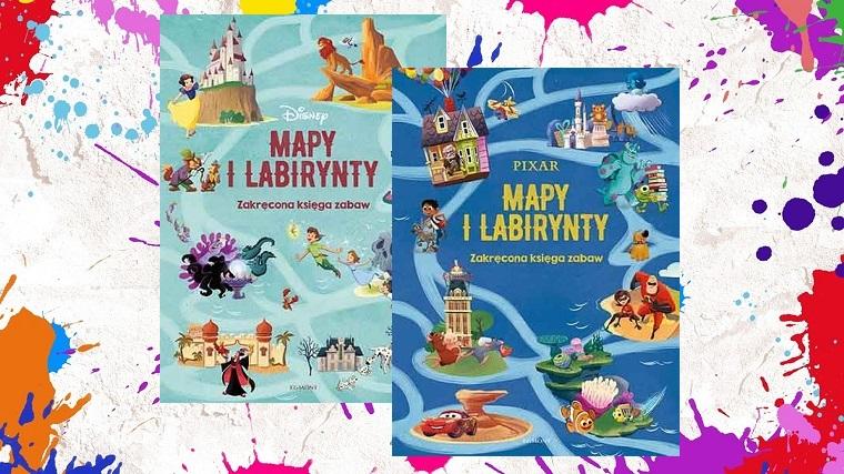 Mapy i labirynty, okładki, kolorowe tło