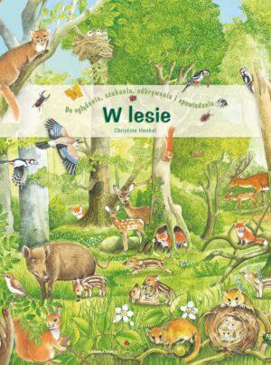 W lesie - okładka - zwierzęta w lesie