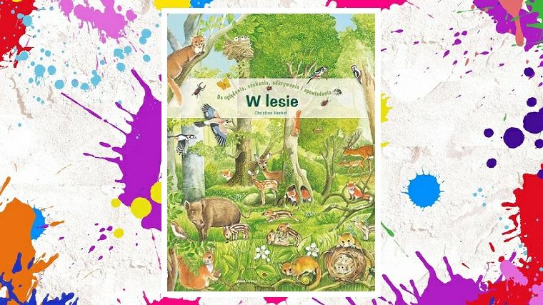 W lesie - zdjęcie główne - okładka na kolorowym tle