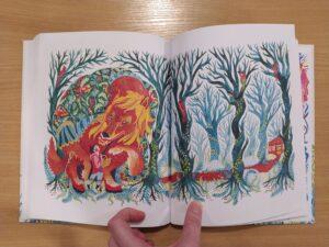 Królewna w lśniącej zbroi - ilustracja do baśni Czerwony Kapturek