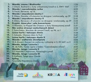 Wanda i muzyczne przygody - lista utworów